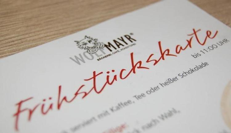 Frühstückskarte (© Günther Wolfmayr)