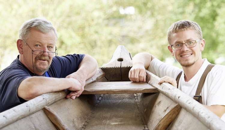 Rudi und Christian Königsdorfer, Zillenbauer Königsdorfer, Niederranna. (© WGD Donau Oberösterreich Tourismus GmbH-Peter Podpera)