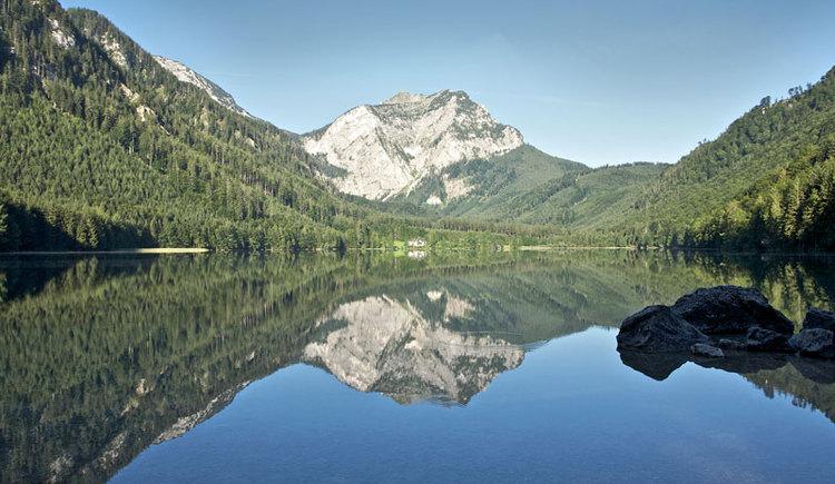 Die Langbathseen in Ebensee am Traunsee im Salzkammergut sind ein beliebtes Wandergebiet bei Familien, welche den Urlaub in Ebensee verbringen. (© MTV Ferienregion Traunsee - Tourismusbüro Ebensee)