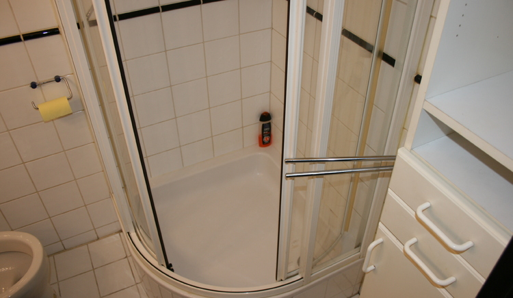You will see the shower cubicle from bathroom of Hostel in Bad Goisern