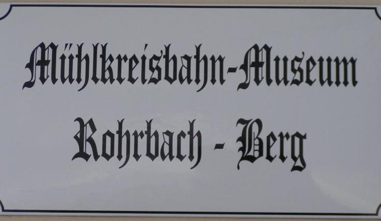 Schild - Bahnhof (© Mühlkreisbahnmuseum)