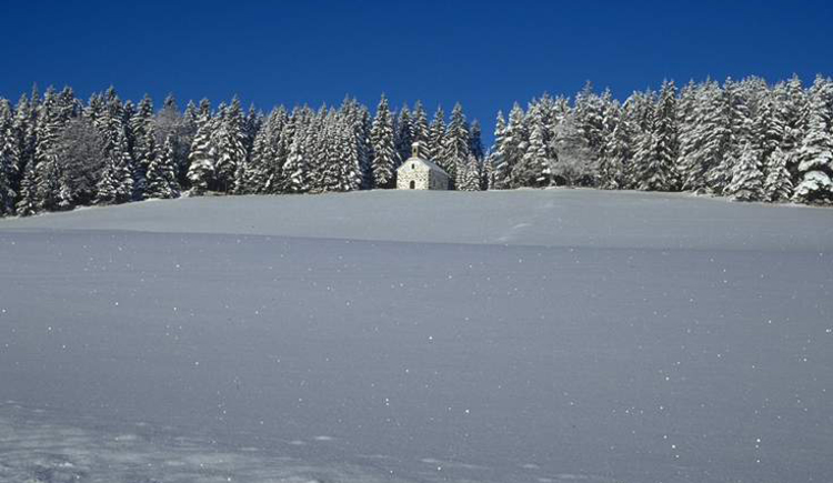Kammerer-Kreuz am Johannesweg im Winter, Mühlviertler Alm. (© Mühlviertler Alm)