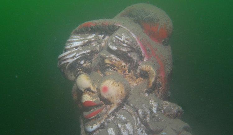 Gartenzwerg unterwasser