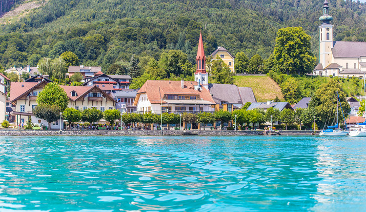 Seehof Attersee, Ansicht vom See, Attersee am Attersee (© Seehof GmbH)