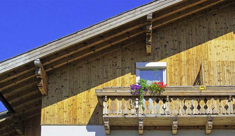 """Blick auf den Balkon von der Ferienwohnung \""""Himmel für 4\"""""""