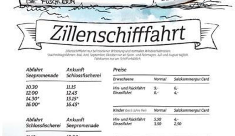 Zillenschifffahrt Fahrplan (© Hotel Ebner´s Waldhof)