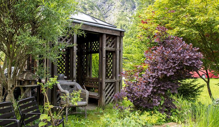 Entspannen sie in der Gartenlaube