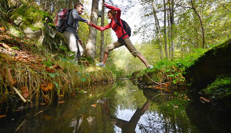 Wandern am FR2 - Fitwanderweg im wildromantischen Thurytal in Freistadt. (© OÖ Tourismus/Röbl)