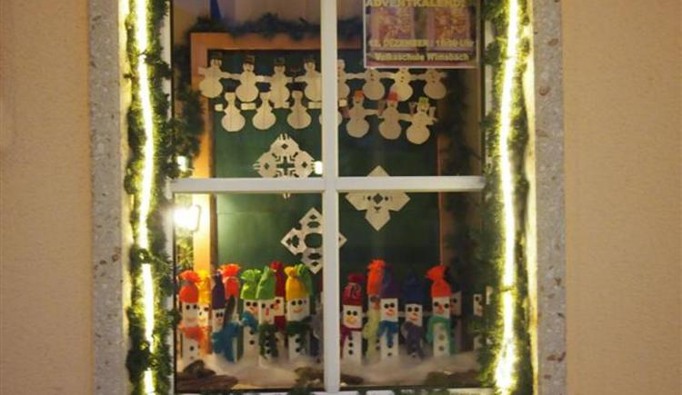 Adventkalender Fenster (© Marktgemeinde Bad Wimsbach-Neydharting)