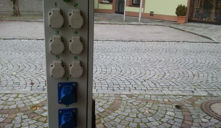 E-Tankstelle Ulrichsberg - Steckdosen (© Ferienregion Böhmerwald)