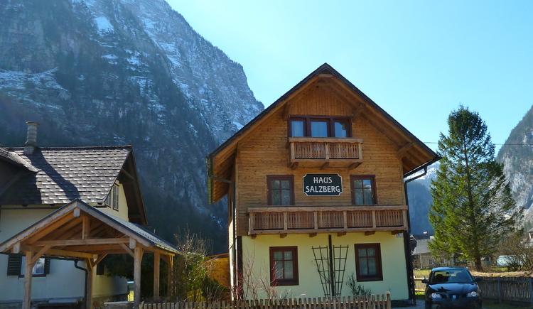 Die Außenseite des Ferienhaus Salzberg.