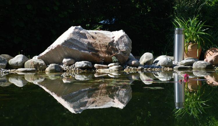 water in the garden, stones