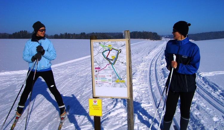 Langlaufen auf Loipen. (© KräuterWirt)