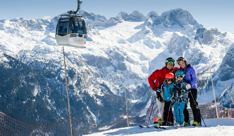 The Dachstein-West ski area offers the ideal conditions for a family ski holiday. (© OÖ-Tourismus)