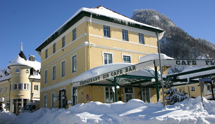 Das Café Flora im Winter (© Tourismusverband Fuschl am See)
