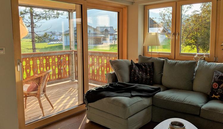 Wohnung Bergglück - Wohnbereich Balkon (© dasGams)