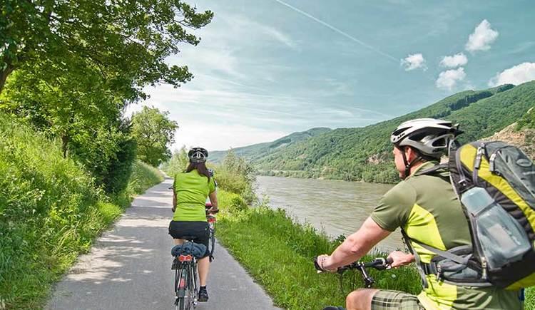 Radfahren an der Donau in der Wachau (© Österreich Werbung)
