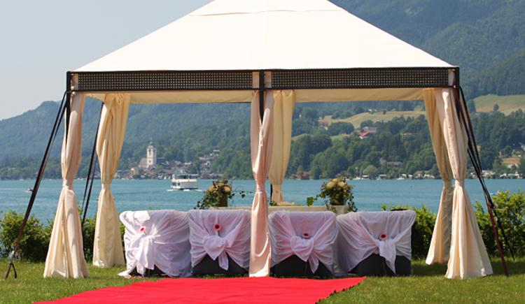Hochzeit im Hotel Villa Brandauer direkt am Wolfgangsee im Salzkammergut. (© Villa Brandauer)