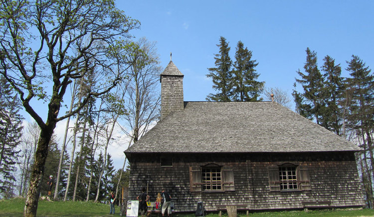 Exterior view of the oldest wooden church in Austria