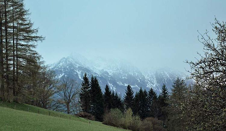 Aussicht_Hoellengebirge (© Bauernhof Obere Wolfsgrub)