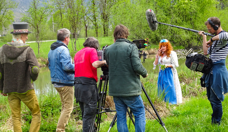 Dreharbeiten Servus TV. (© Kurt Reisenauer)