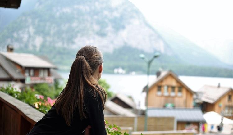 Sonnige Aussicht von dem Balkon des Apartments Pepi.