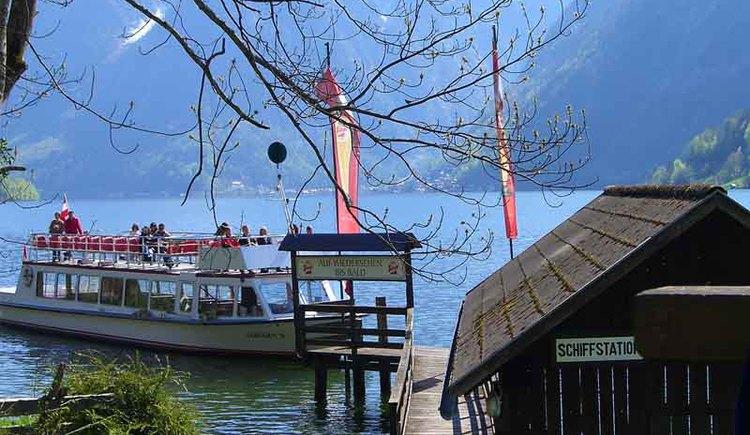 Glücksplatz am Hallstättersee in Bad Goisern. (© Ferienregion Dachstein Salzkammergut / Elisabeth Eckel)