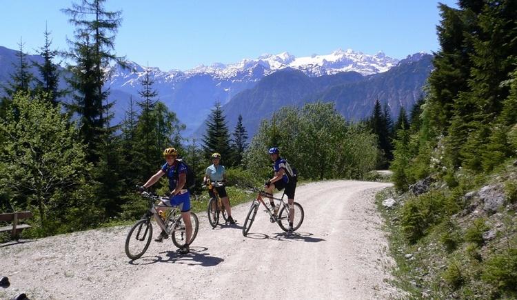 Geführte Mountainbike Touren mit den Guides des Mountainbike Kompetenzzentrums im Salzkammergut. (© Simonlehner)