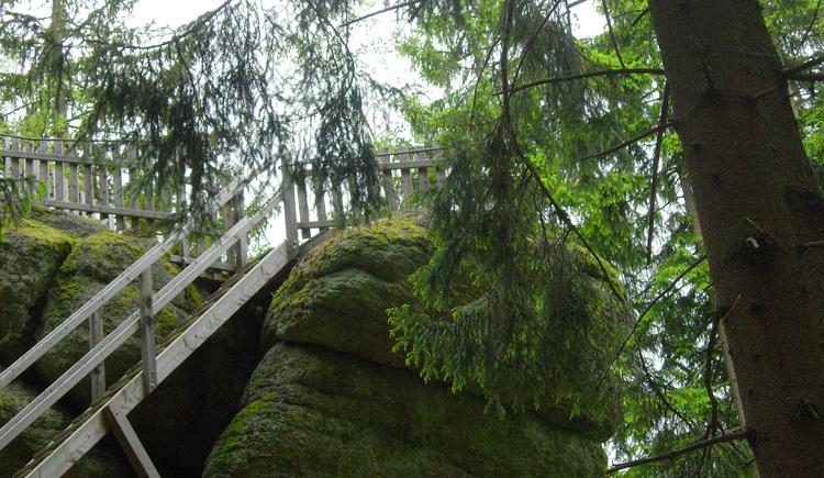 Wegererstein Aufgang Aussichtsplattform