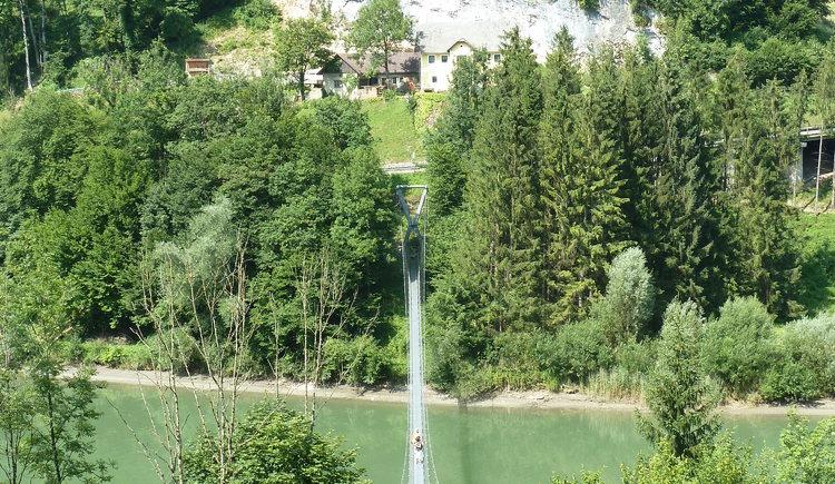 Hängeseilbrücke über die Enns