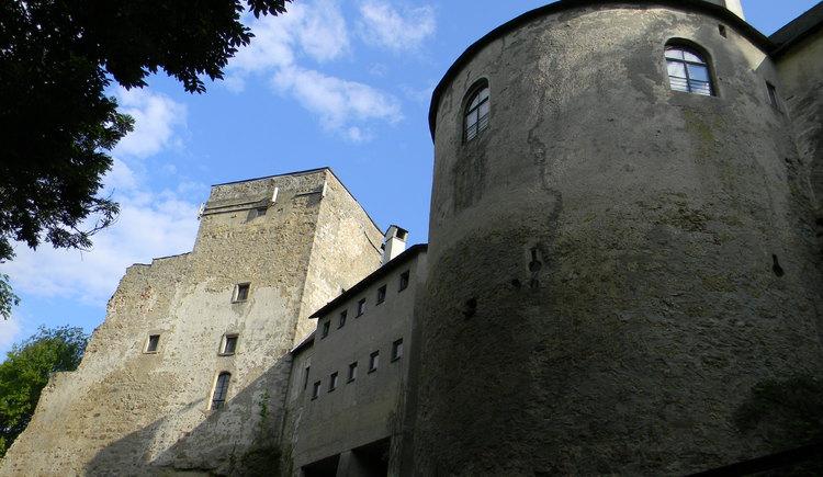 Rückansicht Burg Kreuzen in Bad Kreuzen im Mühlviertel in Oberoesterreich