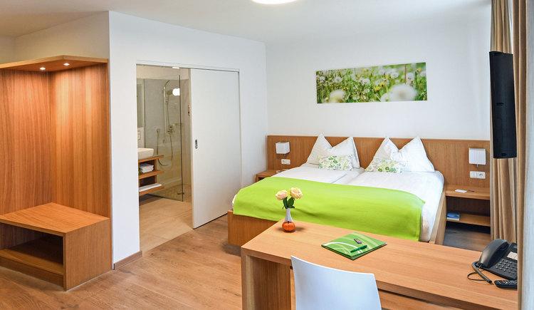 Doppelzimmer im Kapellerhof in Stadl-Paura. (© Kapellerhof in Stadl-Paura)