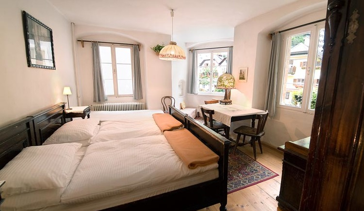 The rooms at Gasthof Simony in the world heritage town Hallstatt.