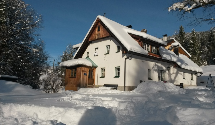 The house Waldbankerl is very quiet on the edge of the forest in the village Untersee