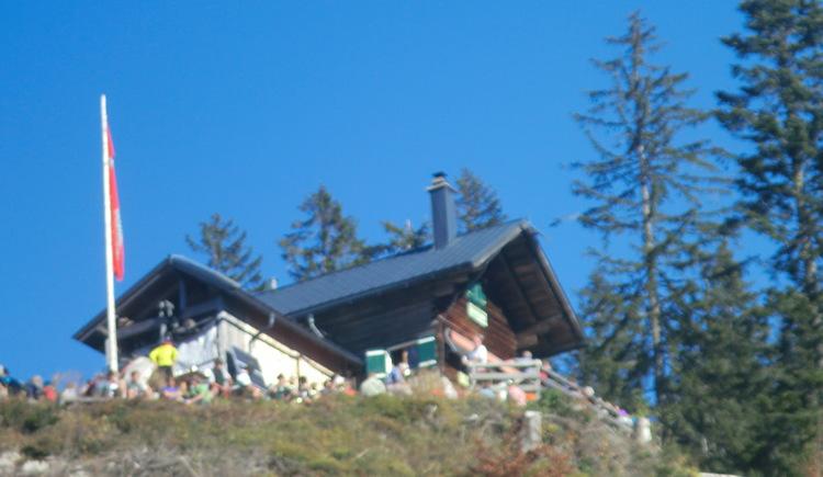 Exterior view of the Raschberghütte in Bad Goisern am Hallstättersee.