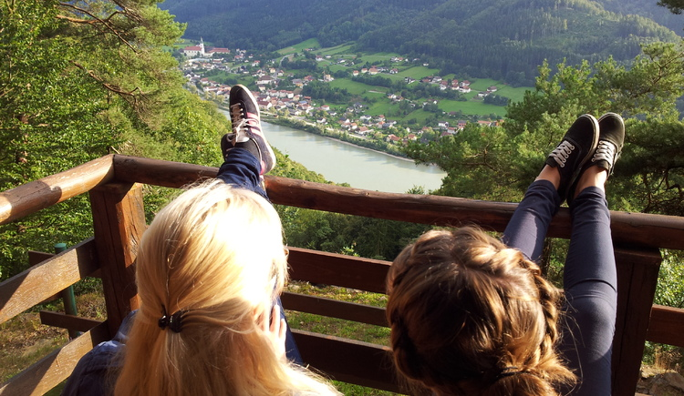 Ausblick zur Donau bei Engelhartszell