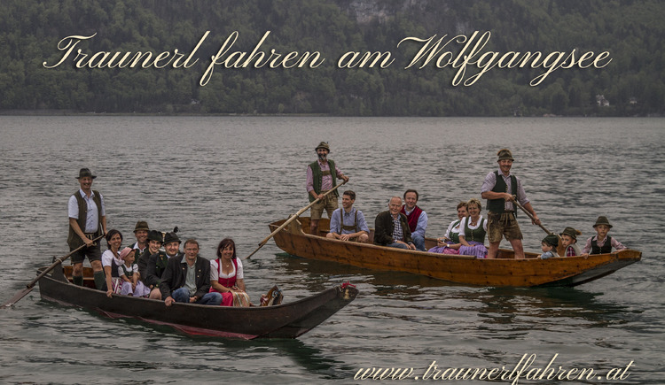 Enjoy a boat ride with a traditional wooden boat on Wolfgangsee