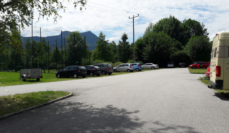 View of the parking lot, parking cars