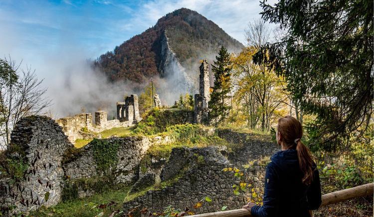 Ruine Scharnstein - Foto Monika Löff (© WALDraum-TVB-Traunsee-Almtal-Foto-Monika Löff)