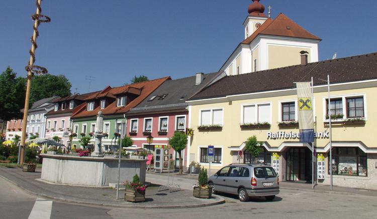 Bad Wimsbach Marktplatz (© TTG Tourismus Technologie)