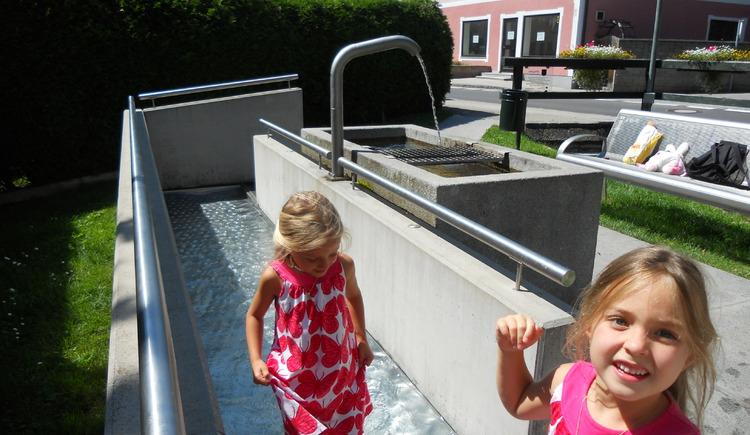 Quellfassung mit Kaltwasser-Fußbad