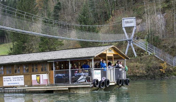 Floß- und Schifffahrten auf der Enns. (© Schifffahrt Aigner)