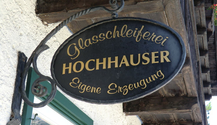 The glas grinding Hochhauser has a various selection of souvenirs.
