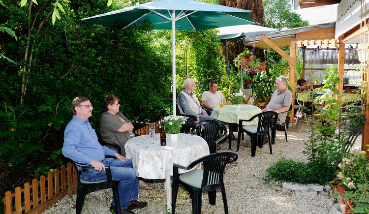 Thermenhütte Hornberger in Geinberg - Gastgarten