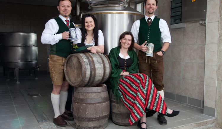 Das Brauerei Team (© Familie Kaltenböck)