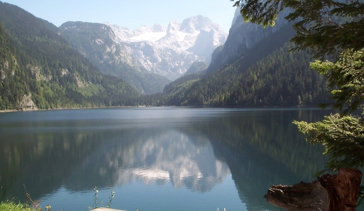 Lake Gosausee with view on the Dachstein