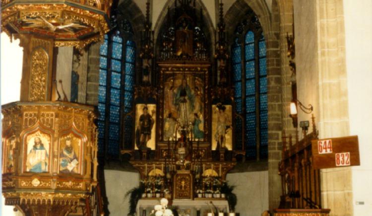 Pfarrkirche Hirschbach - Hochaltar (© Martina Maier)