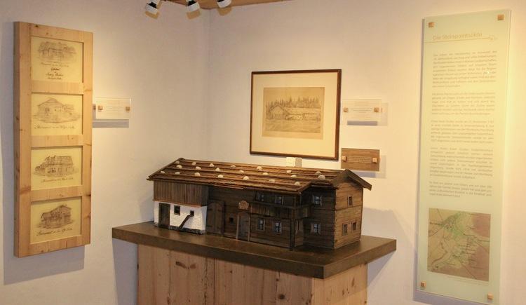 Museum - Modell der Steinpointsölde (© FXG Gemeinschaft)