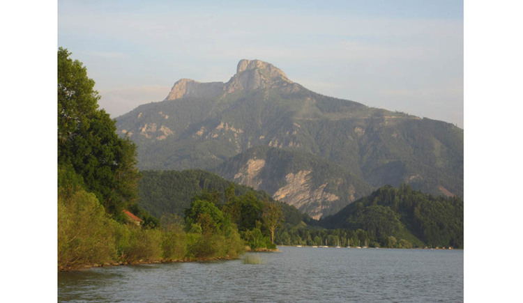 View of the lake and the mountains