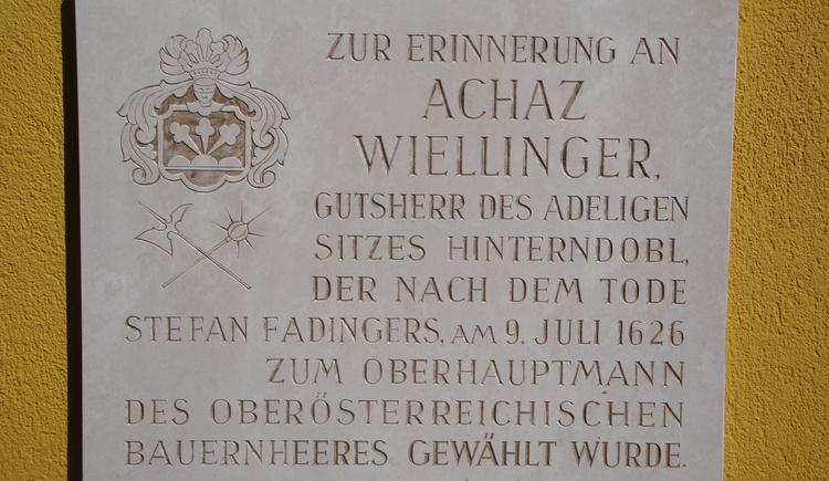 Bauernkriegsgedenkstätte. (© Gemeinde Dorf an der Pram)